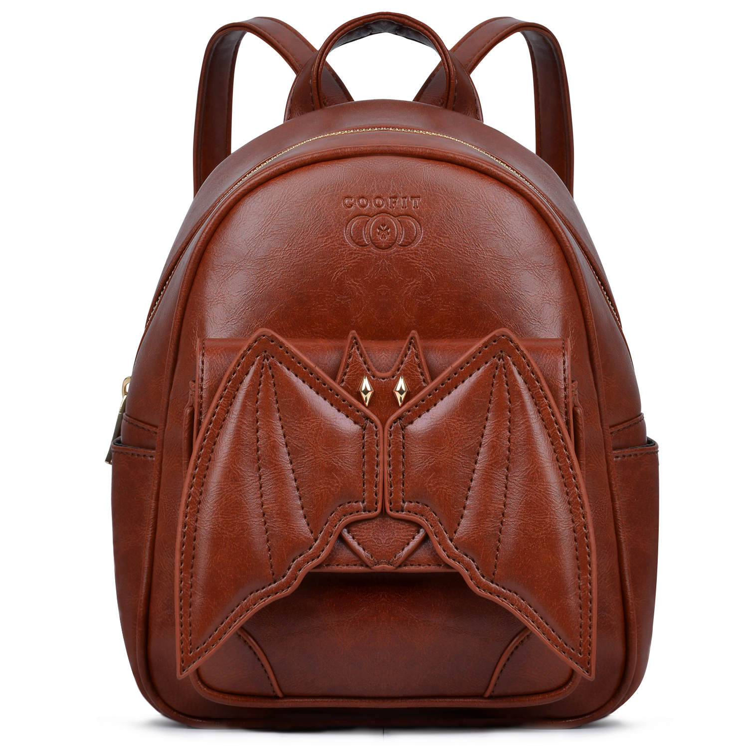 Coofit Bat Wing Gothic Mini Backpack/Daypack (Brown)