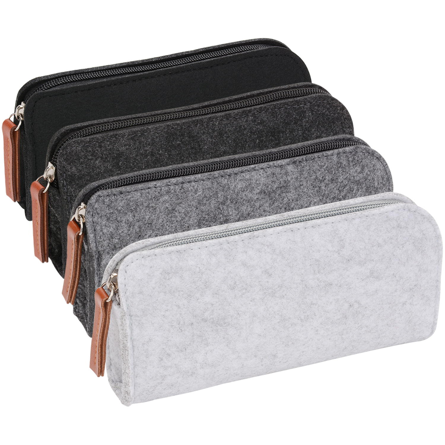 4PCS Felt Pencil Case/ Stationery Case/Makeup Bag