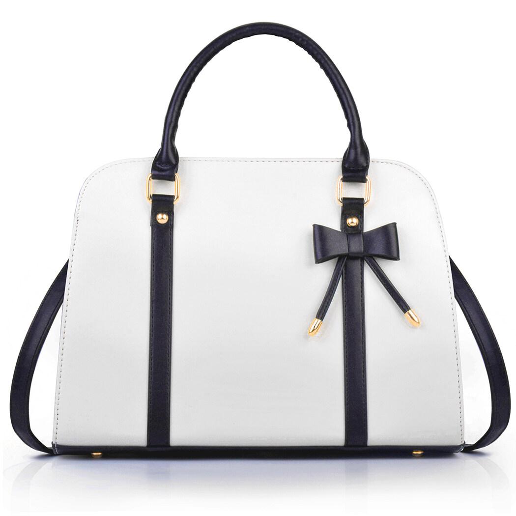 Women Handbag Fashion Elegant Bowknot Top Handle Satchel Purse Crossbody Purse