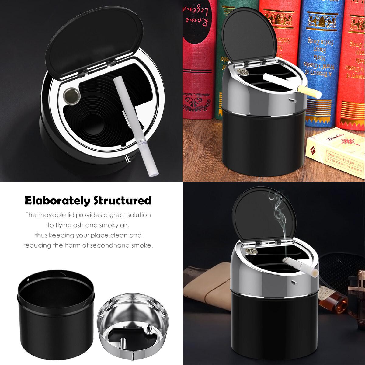 Cendrier Silicone Ecologique Facile /à Nettoyer Durable Id/éal pour Bar Bureau Set de 3