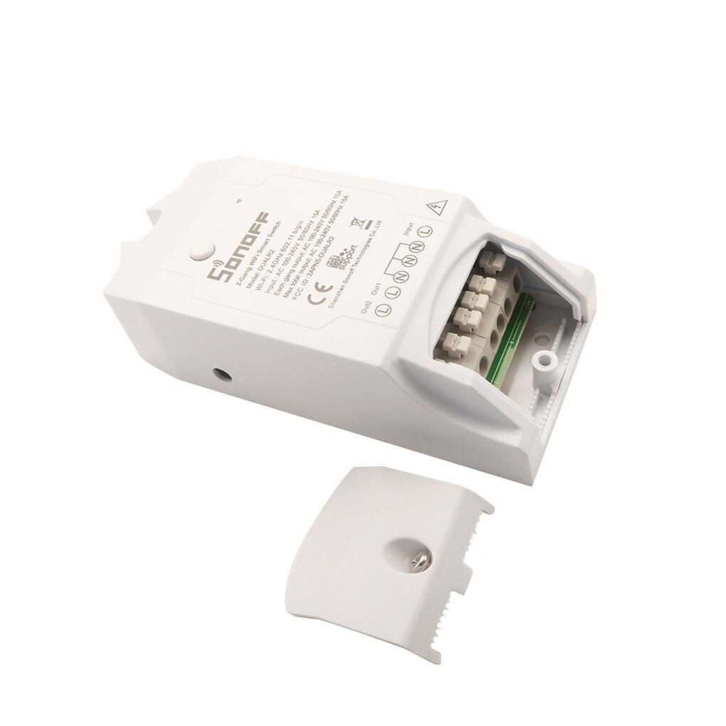 Sonoff Dual R2 16a Wifi Smart Home Commutateur Avec Surcharge D Energie De Surveillance Proteger Achat Vente Prise Telecommandee Sonoff Dual R2 16a Wifi Sma Cdiscount